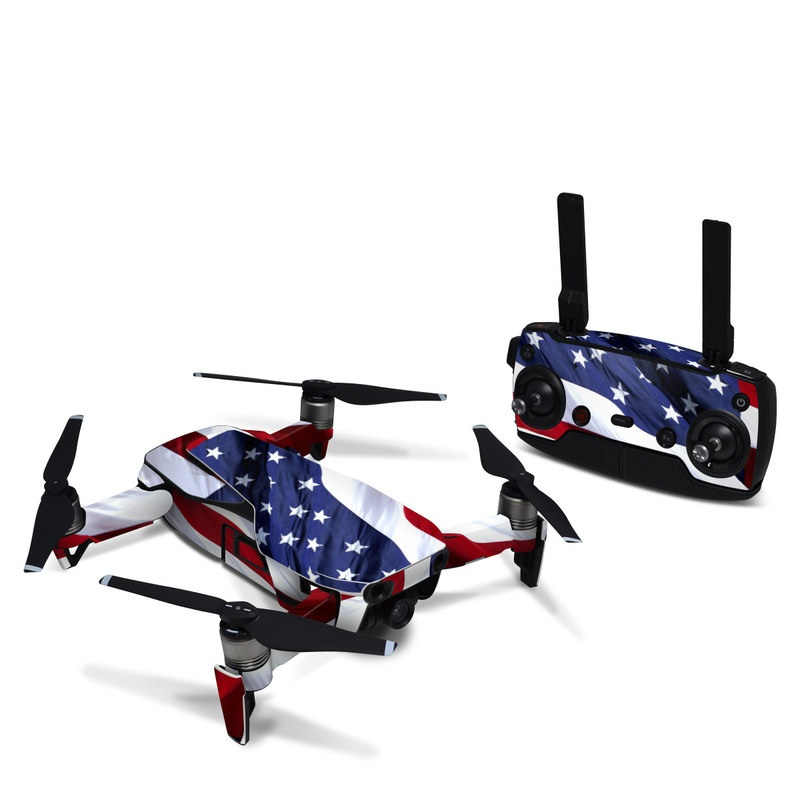 DJI Mavic Air Skin design of Flag, Flag of the united states, Flag Day (USA), Veterans day, Memorial day, Holiday, Independence day, Event with red, blue, white colors