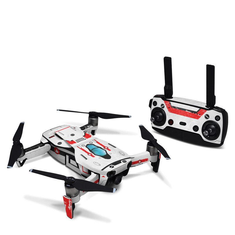 DJI Mavic Air Skin design with white, red, blue colors
