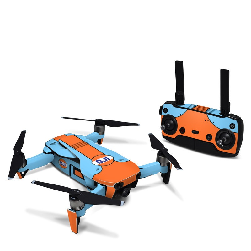 DJI Mavic Air Skin design with blue, orange colors