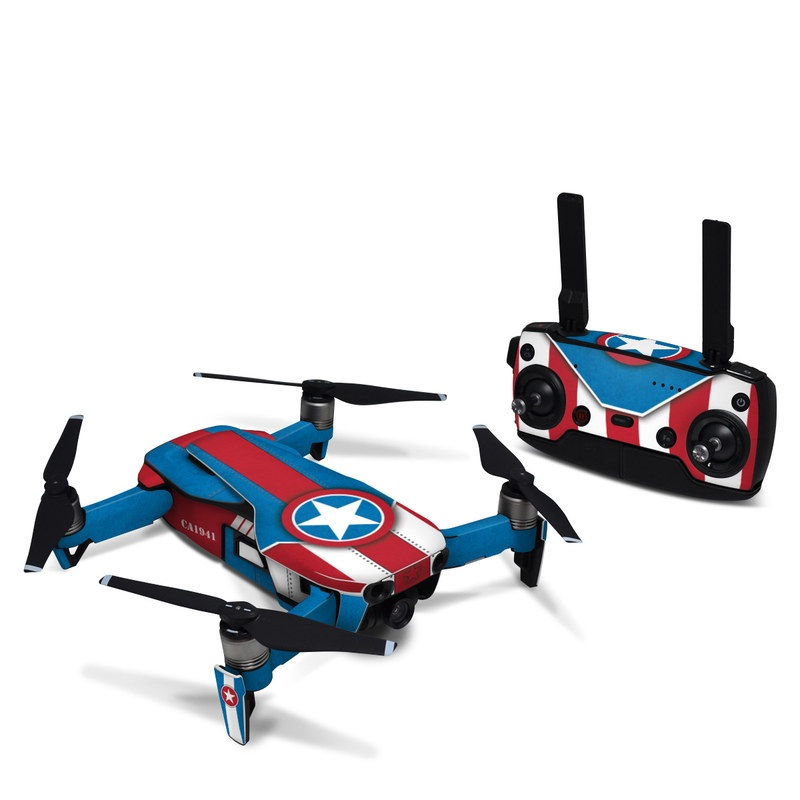 DJI Mavic Air Skin design with white, blue, red colors