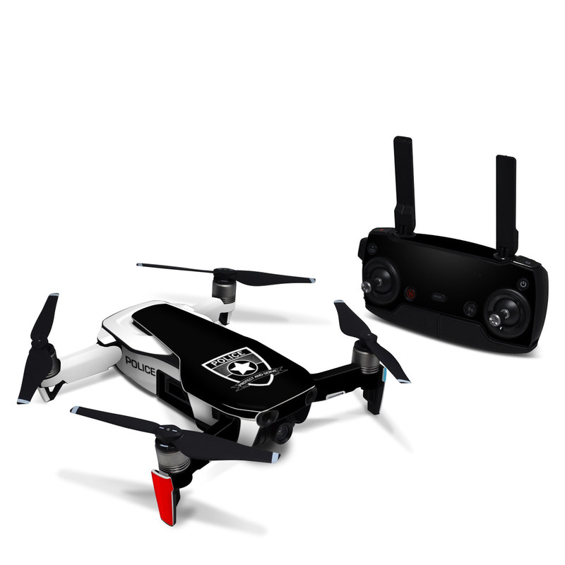 DJI Mavic Air Skin design with white, black, red colors