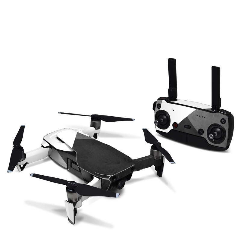 DJI Mavic Air Skin design of Black, White, Black-and-white, Line, Grey, Architecture, Monochrome, Triangle, Monochrome photography, Pattern with white, black, gray colors