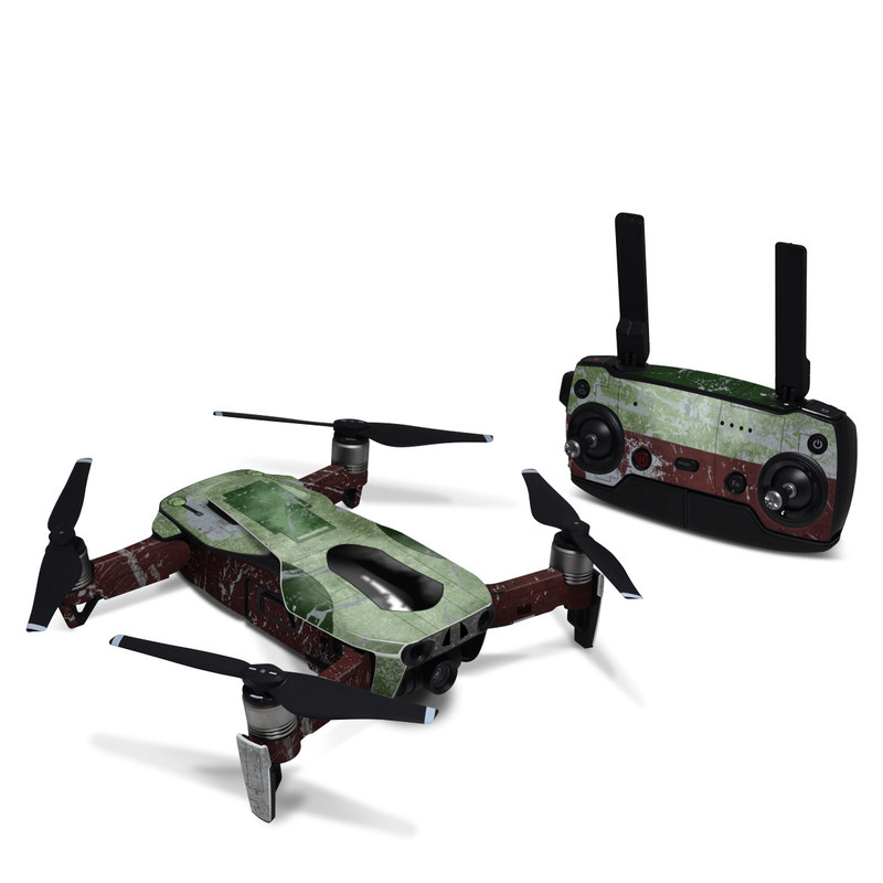 DJI Mavic Air Skin design with red, green, gray colors