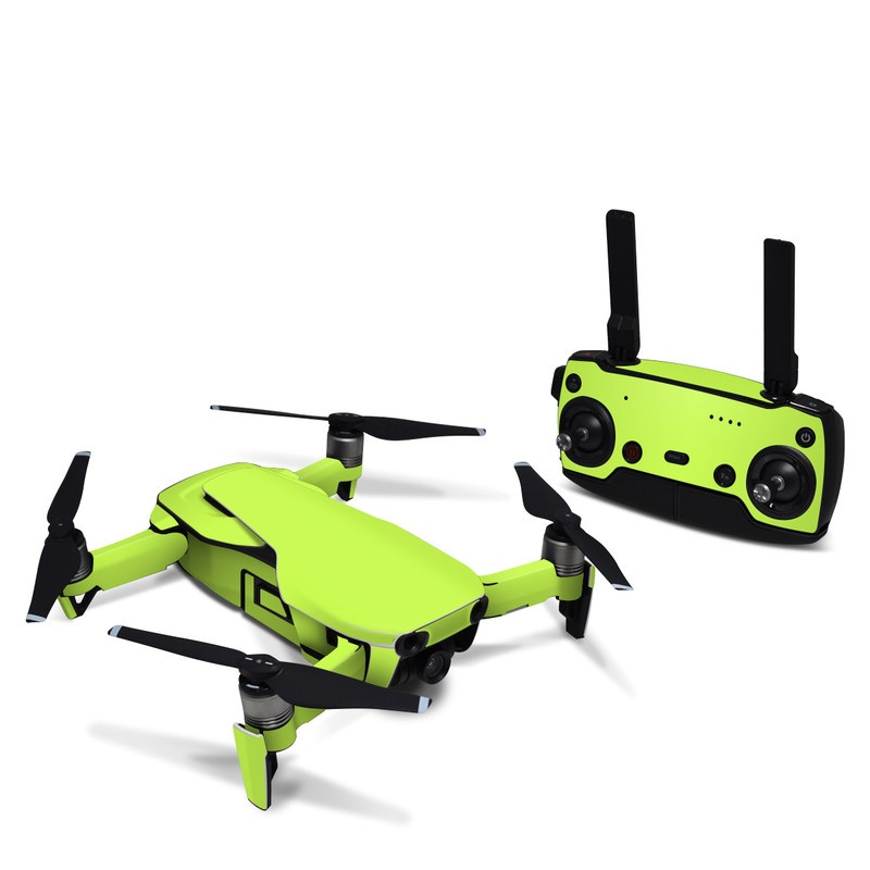 DJI Mavic Air Skin design of Green, Yellow, Text, Leaf, Font, Grass with green colors