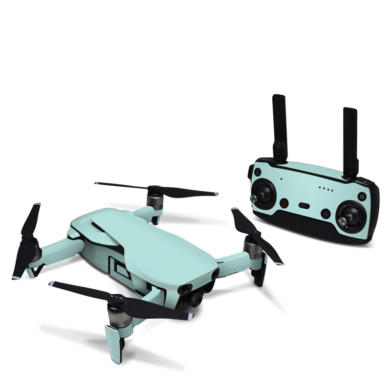 DJI Mavic Air Skin design of Green, Blue, Aqua, Turquoise, Teal, Azure, Text, Daytime, Yellow, Sky with blue colors