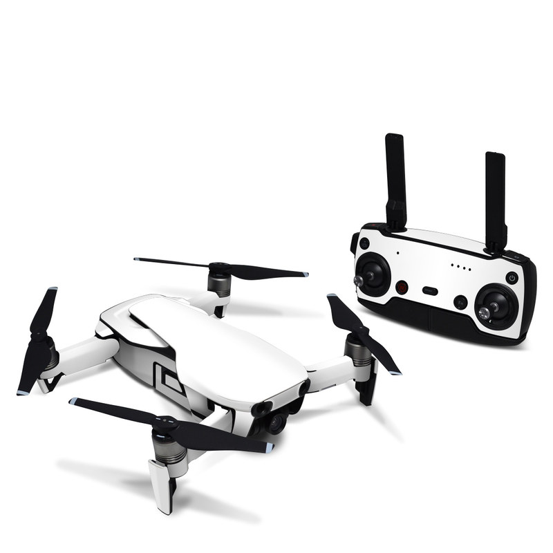 DJI Mavic Air Skin design of White, Black, Line with white colors