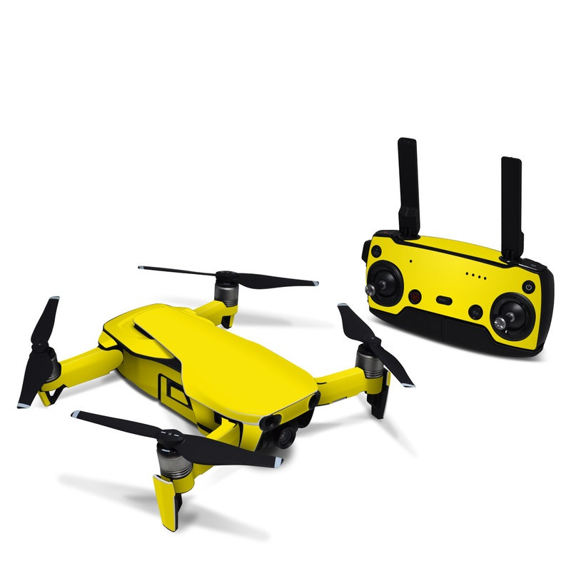 Solid State Yellow DJI Mavic Air Skin