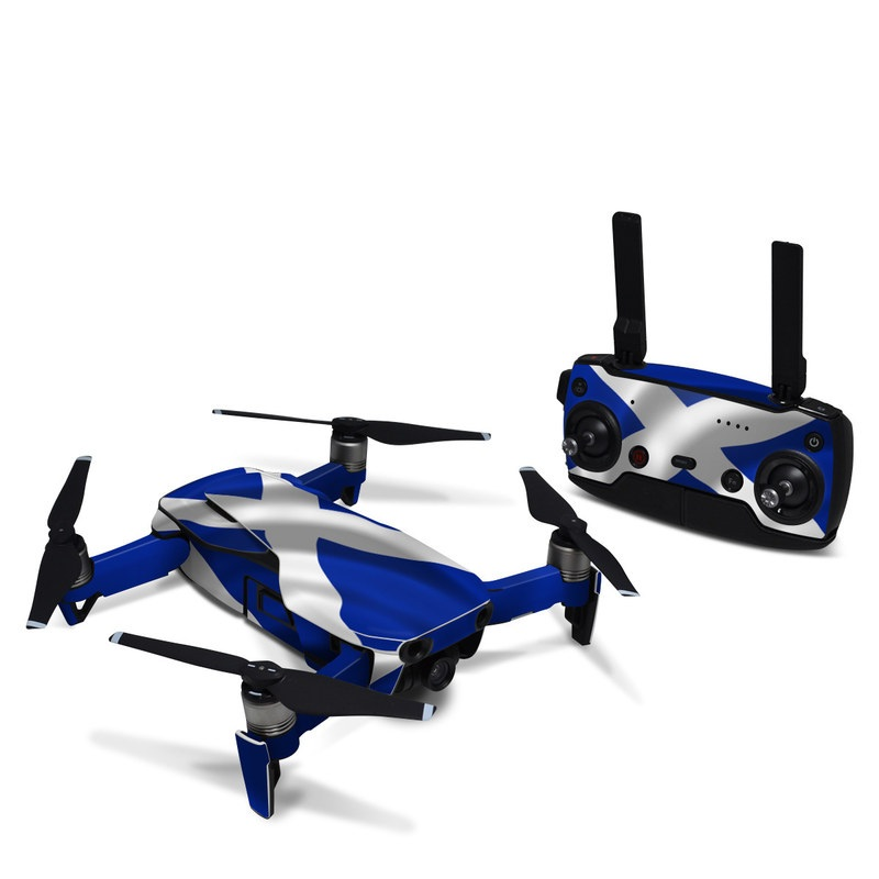 DJI Mavic Air Skin design of Flag, Blue, Cobalt blue, Electric blue, Gesture, Flag of the united states with blue, gray, black, white colors