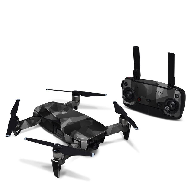 DJI Mavic Air Skin design with black, gray colors