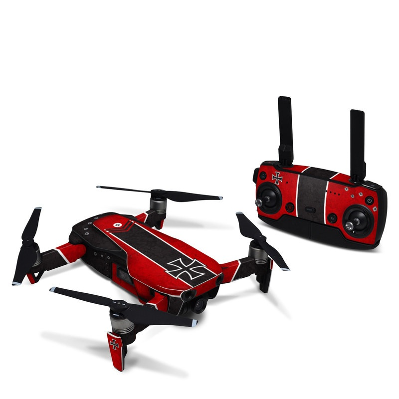 DJI Mavic Air Skin design with red, black, white colors