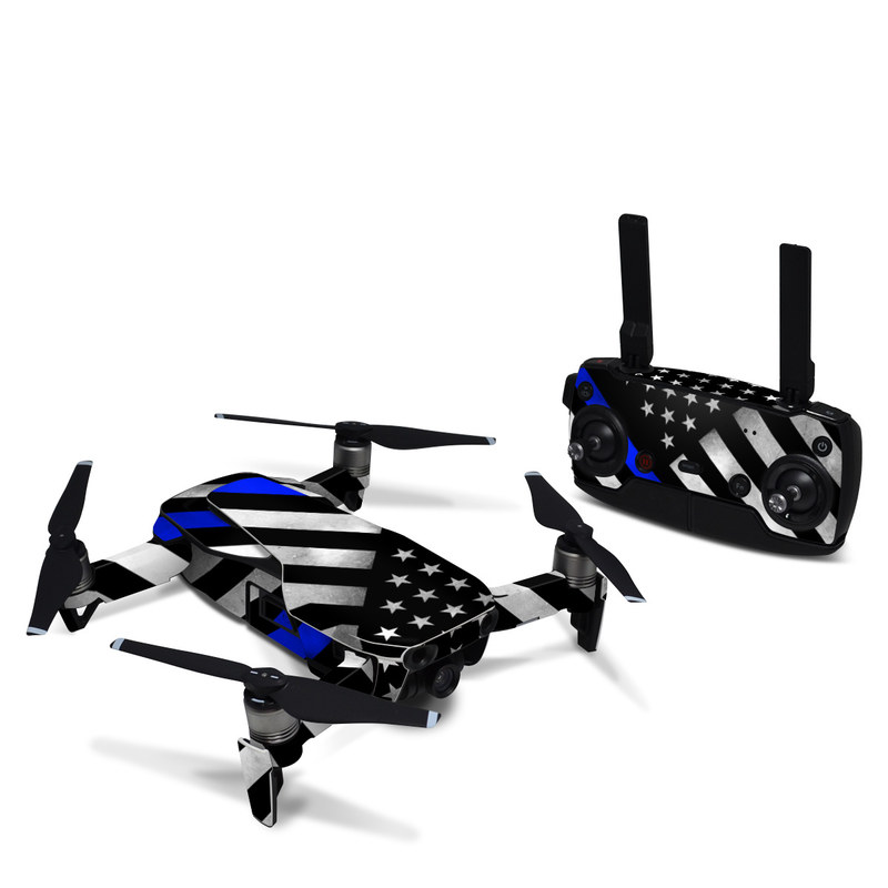 DJI Mavic Air Skin design of Flag of the united states, Flag, Cobalt blue, Pattern, Line, Black-and-white, Design, Monochrome, Electric blue, Parallel with black, white, gray, blue colors