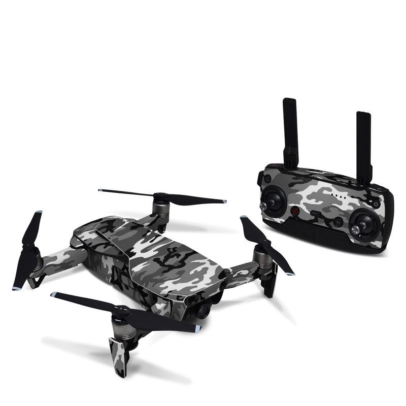 DJI Mavic Air Skin design of Military camouflage, Pattern, Clothing, Camouflage, Uniform, Design, Textile with black, gray colors