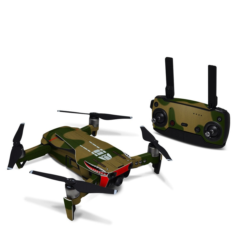 DJI Mavic Air Skin design with green, red, white, black colors