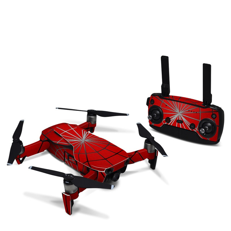 DJI Mavic Air Skin design of Red, Symmetry, Circle, Pattern, Line with red, black, gray colors