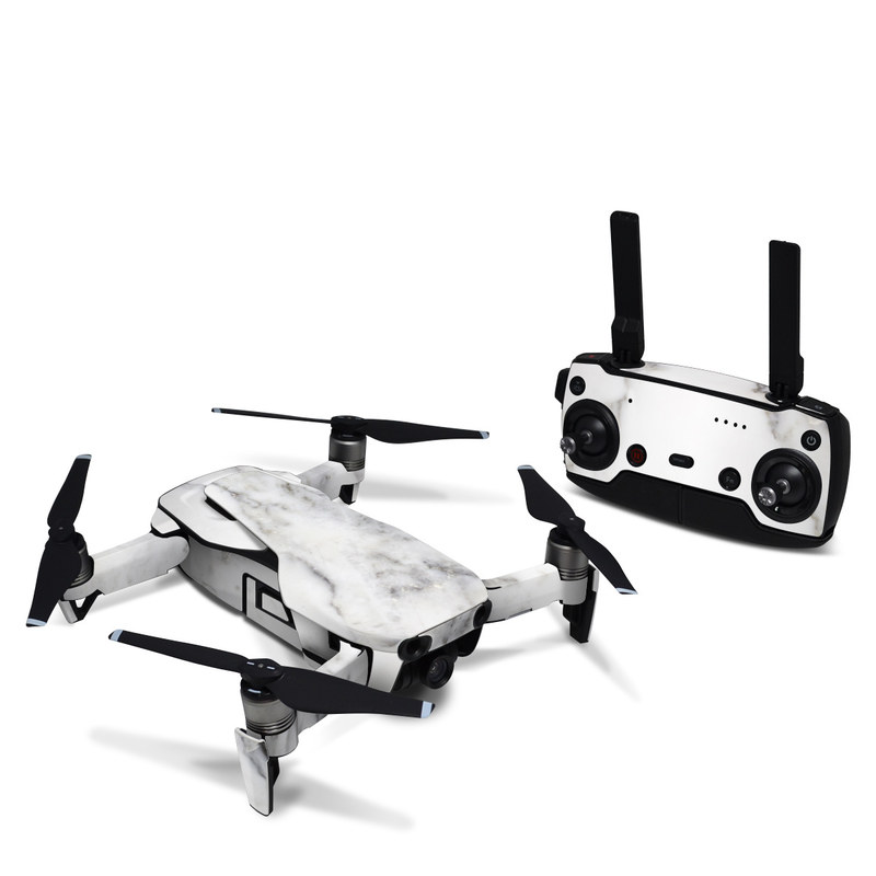DJI Mavic Air Skin design of White, Geological phenomenon, Marble, Black-and-white, Freezing with white, black, gray colors