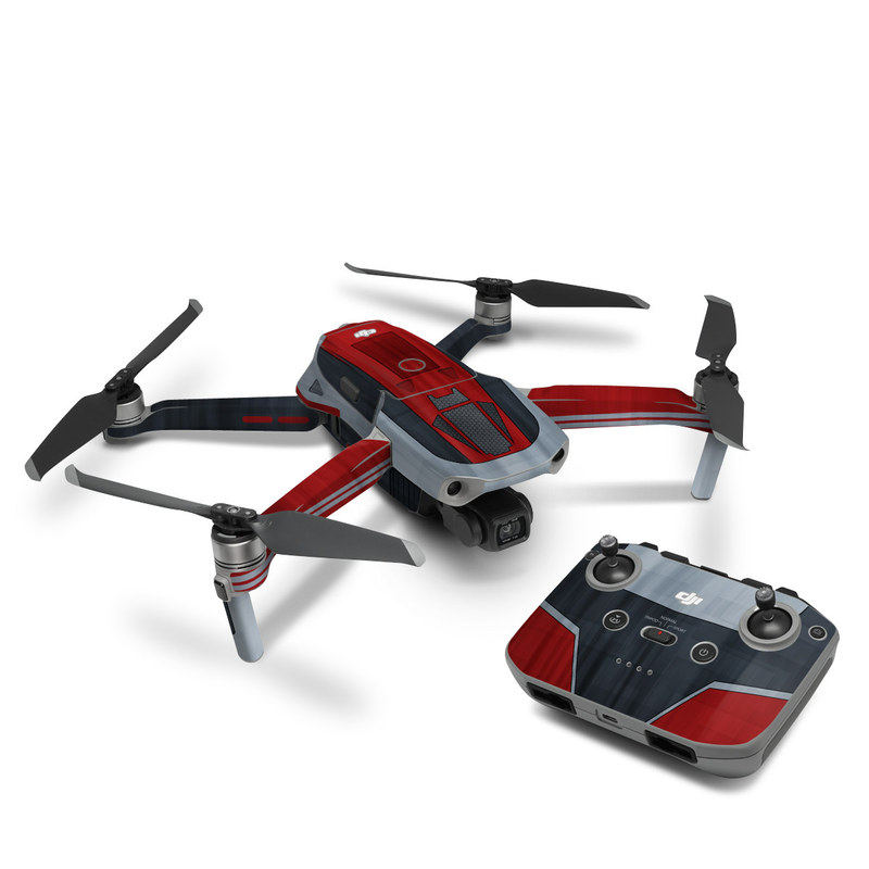 DJI Mavic Air 2 Skin design with black, red, gray colors