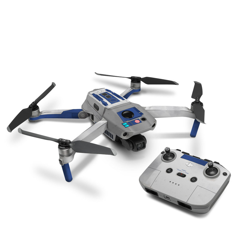 DJI Mavic Air 2 Skin design with blue, gray, green, red colors
