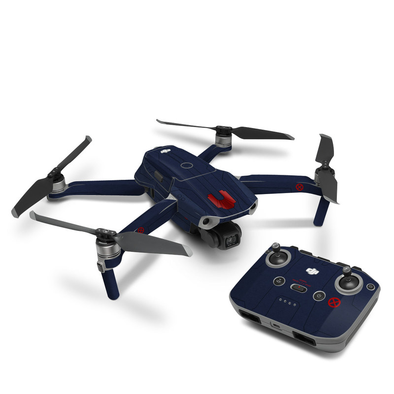 DJI Mavic Air 2 Skin design with blue, red colors