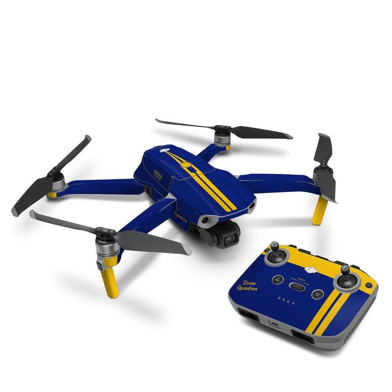 DJI Mavic Air 2 Skin design with blue, yellow colors