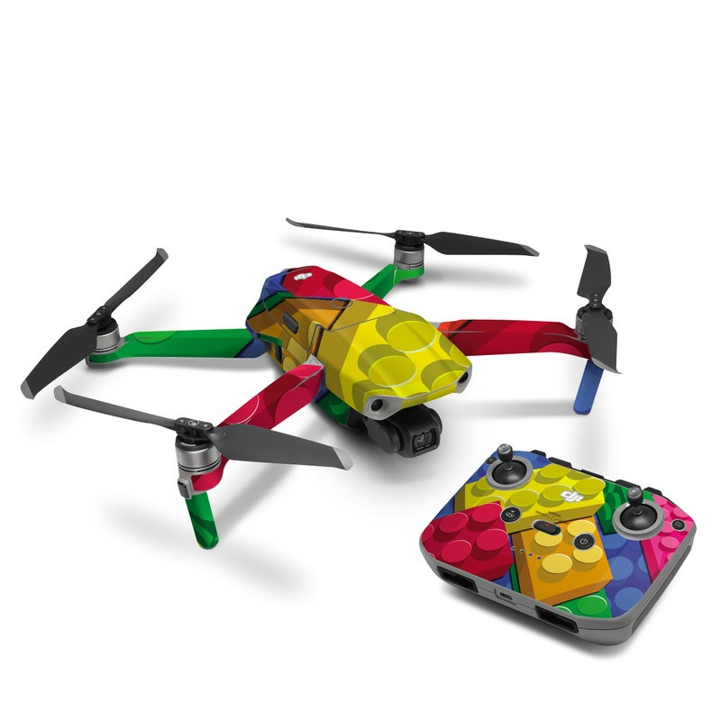 DJI Mavic Air 2 Skin design of Colorfulness, Pattern, Circle, Games, Play with red, blue, green, yellow, orange, pink colors