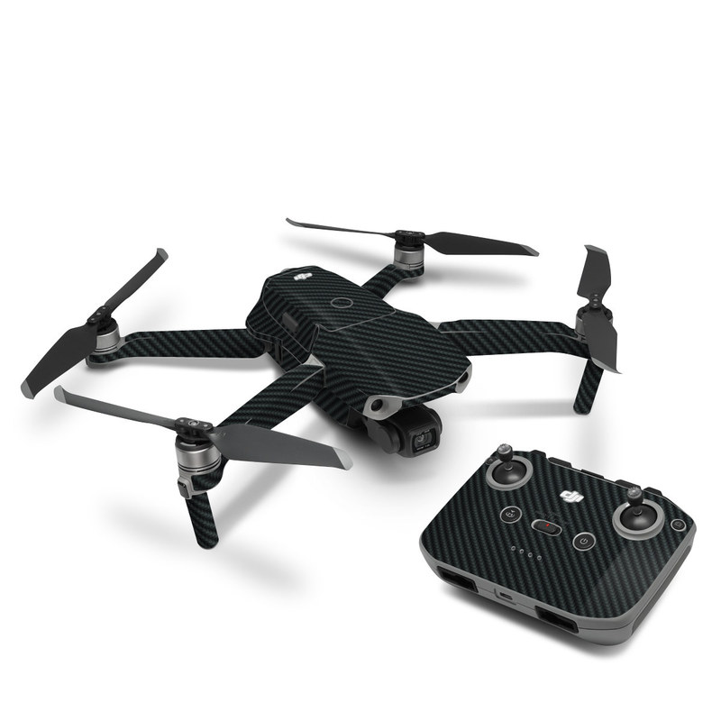 DJI Mavic Air 2 Skin design of Green, Black, Blue, Pattern, Turquoise, Carbon, Textile, Metal, Mesh, Woven fabric with black colors