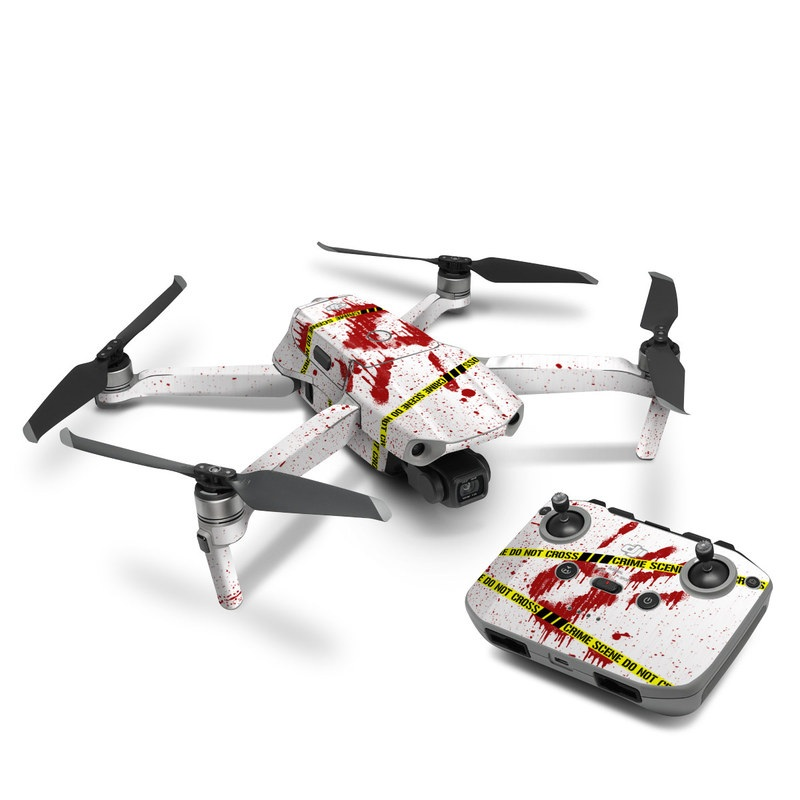 DJI Mavic Air 2 Skin design of Text, Font, Red, Graphic design, Logo, Graphics, Brand, Banner with white, red, yellow, black colors