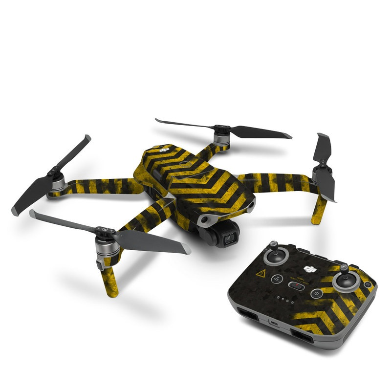 DJI Mavic Air 2 Skin design with black, yellow, gray colors