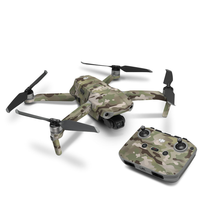 DJI Mavic Air 2 Skin design of Military camouflage, Camouflage, Pattern, Clothing, Uniform, Design, Military uniform, Bed sheet with gray, green, black, red colors