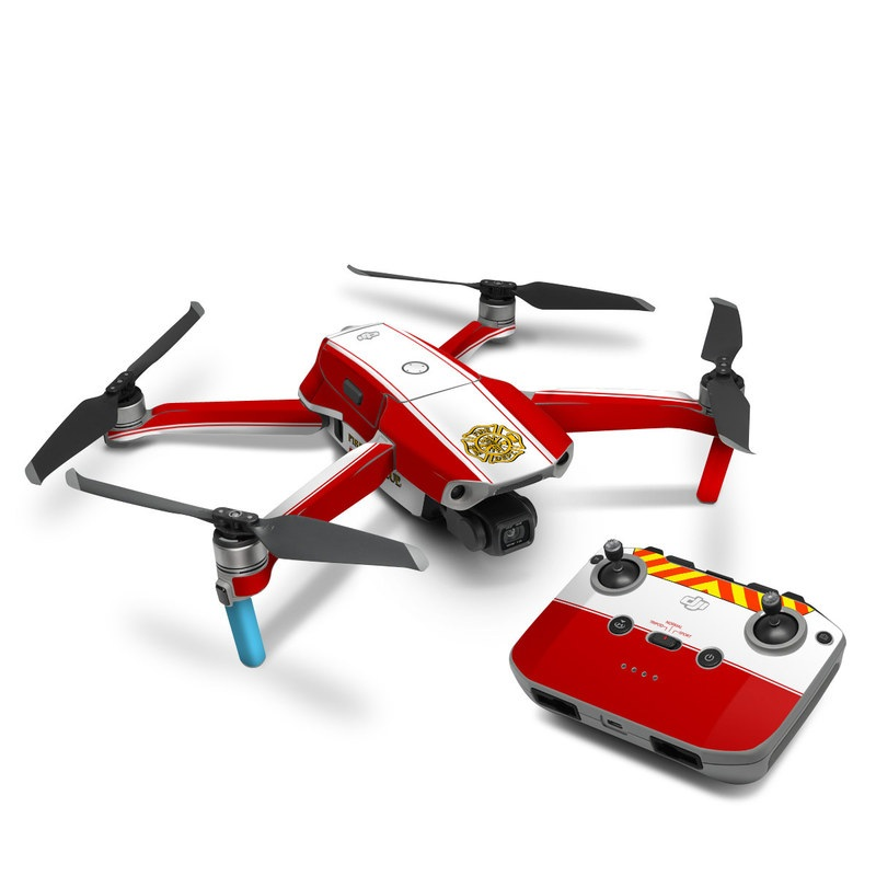 DJI Mavic Air 2 Skin design of Military rank, Flag with white, red, yellow colors