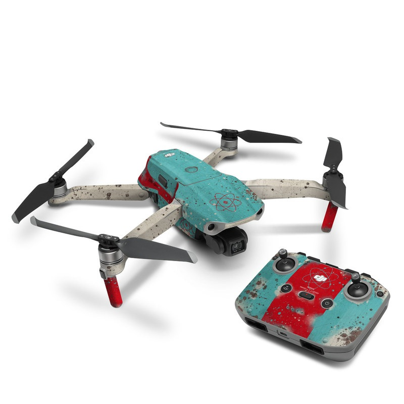 DJI Mavic Air 2 Skin design with red, blue, gray, black colors