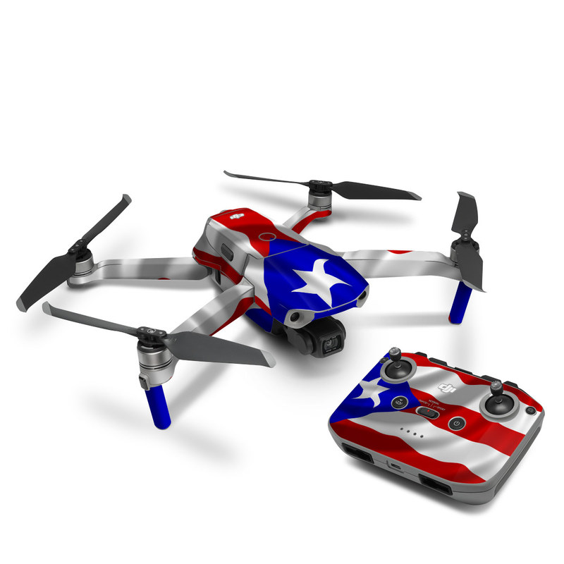 DJI Mavic Air 2 Skin design of Flag, Flag of the united states, Flag Day (USA), Veterans day, Independence day with red, blue, white colors