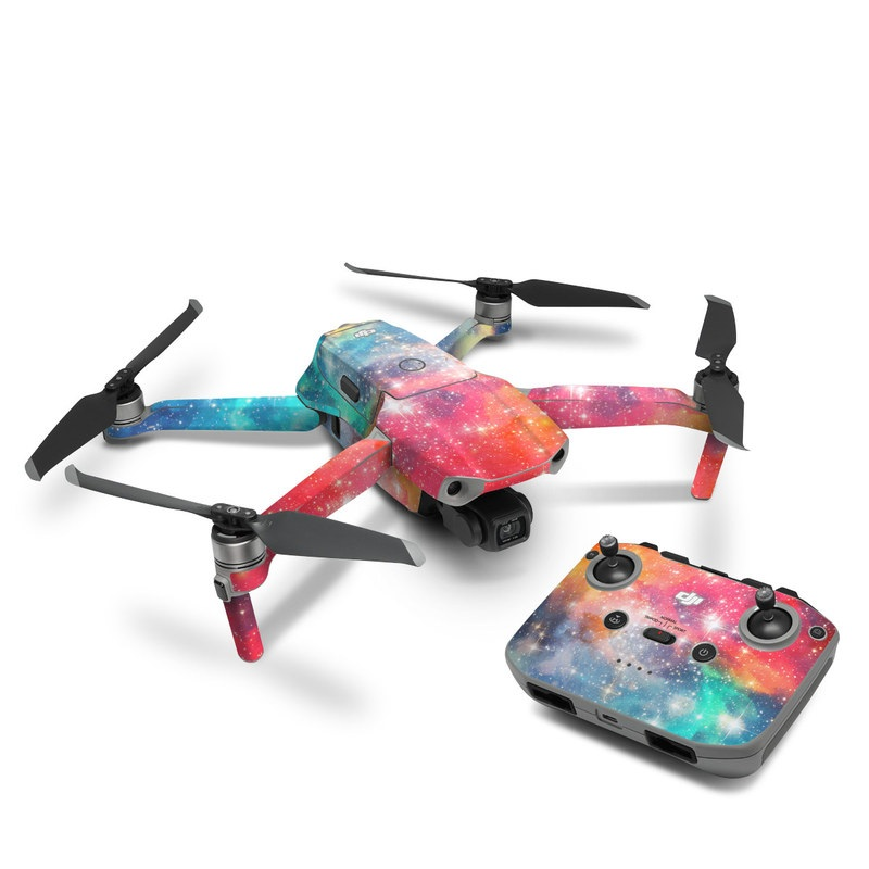 DJI Mavic Air 2 Skin design of Nebula, Sky, Astronomical object, Outer space, Atmosphere, Universe, Space, Galaxy, Celestial event, Star with white, black, red, orange, yellow, blue colors