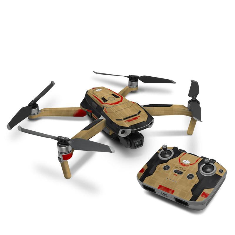 DJI Mavic Air 2 Skin design with brown, red colors