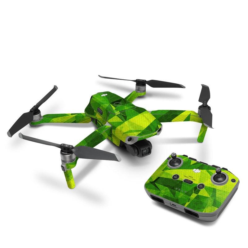 DJI Mavic Air 2 Skin design of Green, Pattern, Leaf, Design, Illustration with green colors