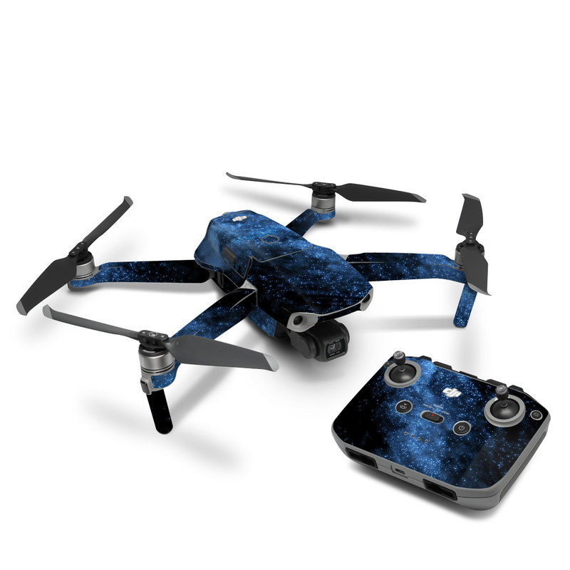 DJI Mavic Air 2 Skin design of Sky, Atmosphere, Black, Blue, Outer space, Atmospheric phenomenon, Astronomical object, Darkness, Universe, Space with black, blue colors