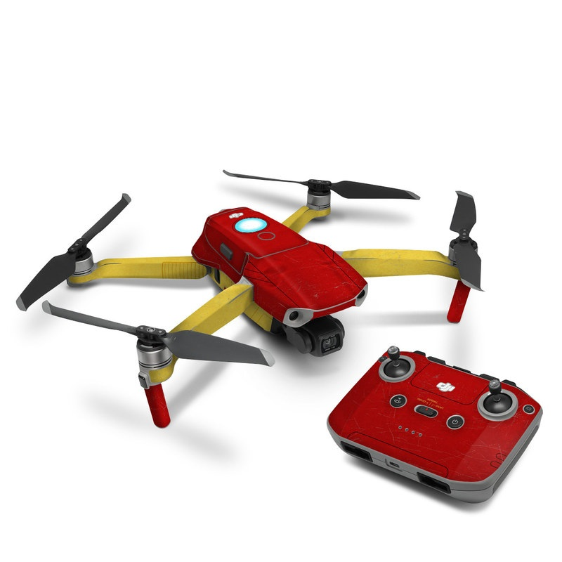 DJI Mavic Air 2 Skin design with red, yellow, white colors