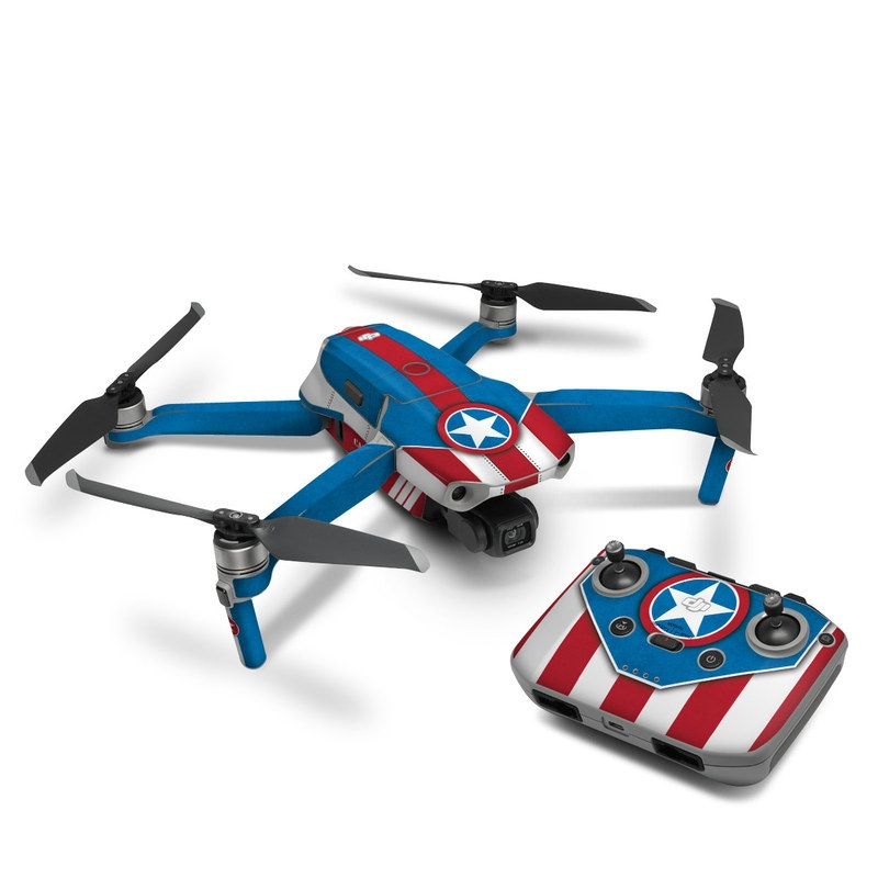DJI Mavic Air 2 Skin design with white, blue, red colors