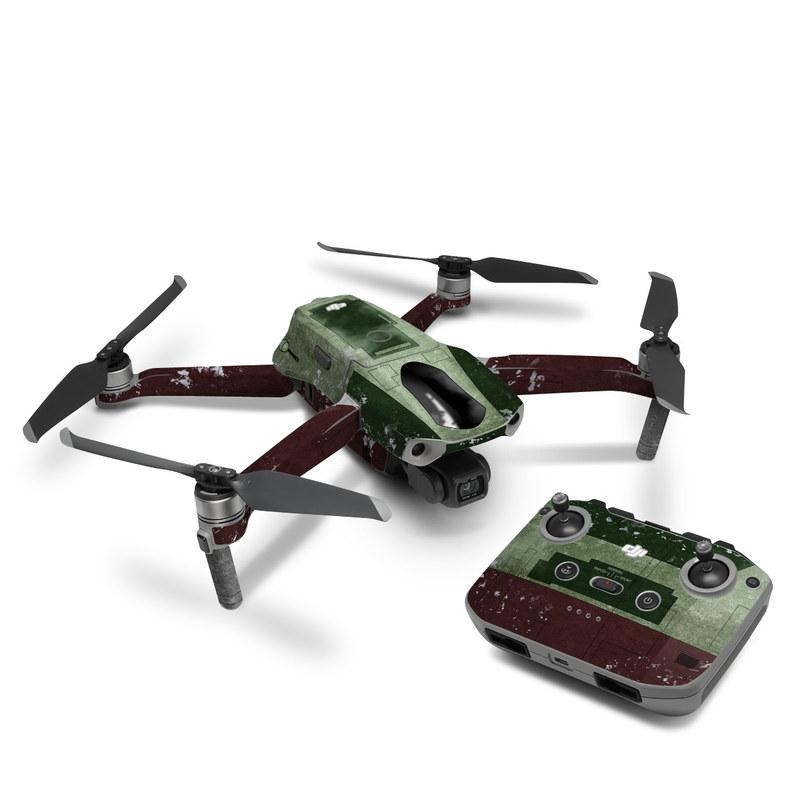 DJI Mavic Air 2 Skin design with red, green, gray colors