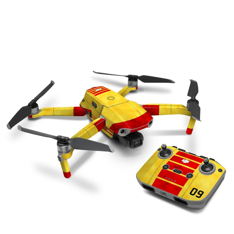 DJI Mavic Air 2 Skin design with red, yellow, black colors