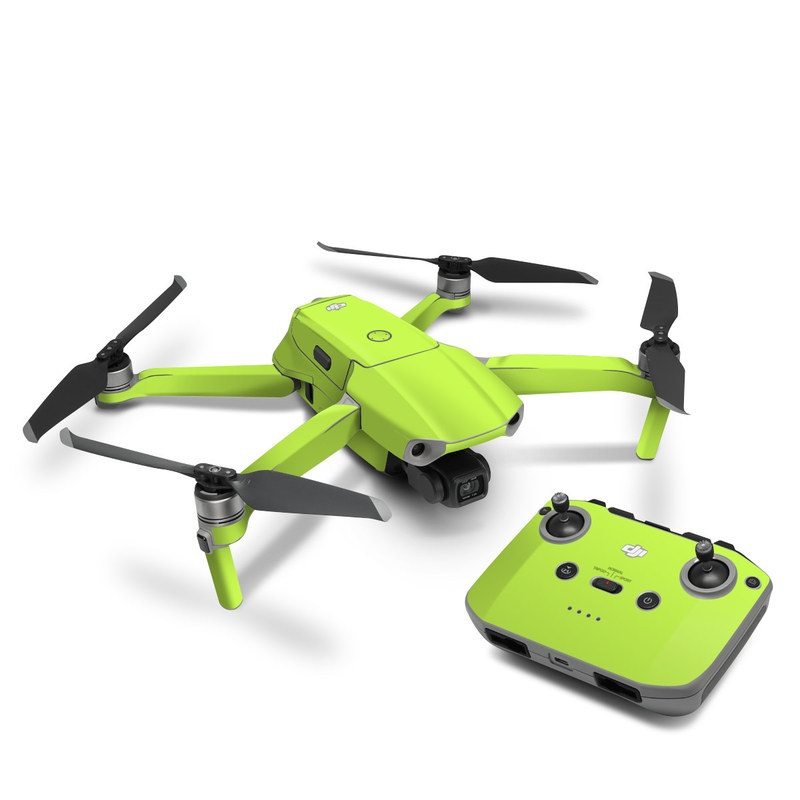 DJI Mavic Air 2 Skin design of Green, Yellow, Text, Leaf, Font, Grass with green colors