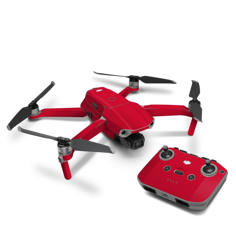 DJI Mavic Air 2 Skin design of Red, Pink, Maroon, Purple, Orange, Violet, Magenta, Material property, Font, Peach with red colors