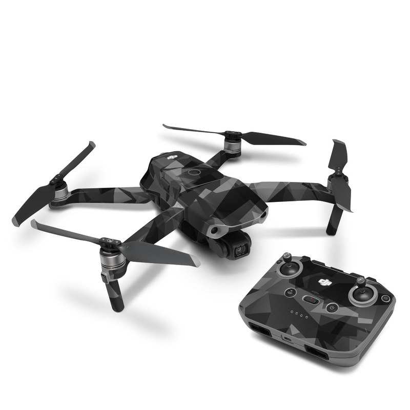 DJI Mavic Air 2 Skin design of Black, Pattern, Triangle, Black-and-white, Monochrome, Grey, Design, Line, Architecture, Monochrome photography with black, gray colors