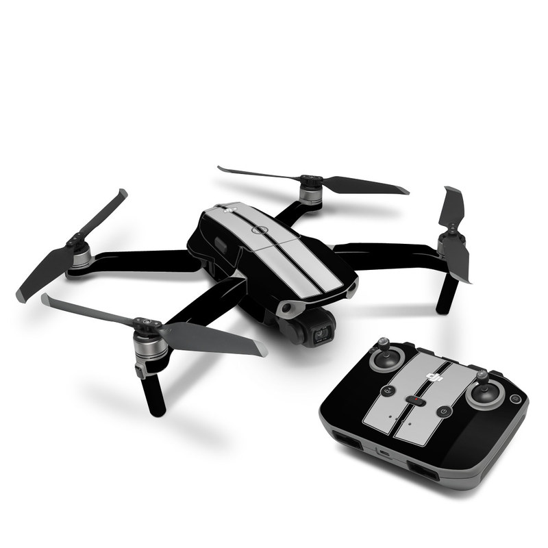 DJI Mavic Air 2 Skin design of Font, Architecture, Rectangle with black, gray colors