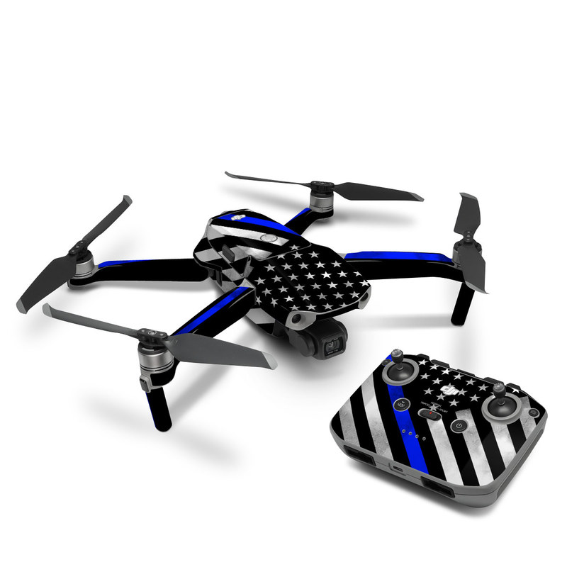 DJI Mavic Air 2 Skin design of Flag of the united states, Flag, Cobalt blue, Pattern, Line, Black-and-white, Design, Monochrome, Electric blue, Parallel with black, white, gray, blue colors
