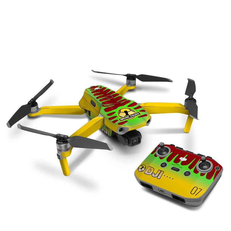 DJI Mavic Air 2 Skin design with yellow, green, brown colors