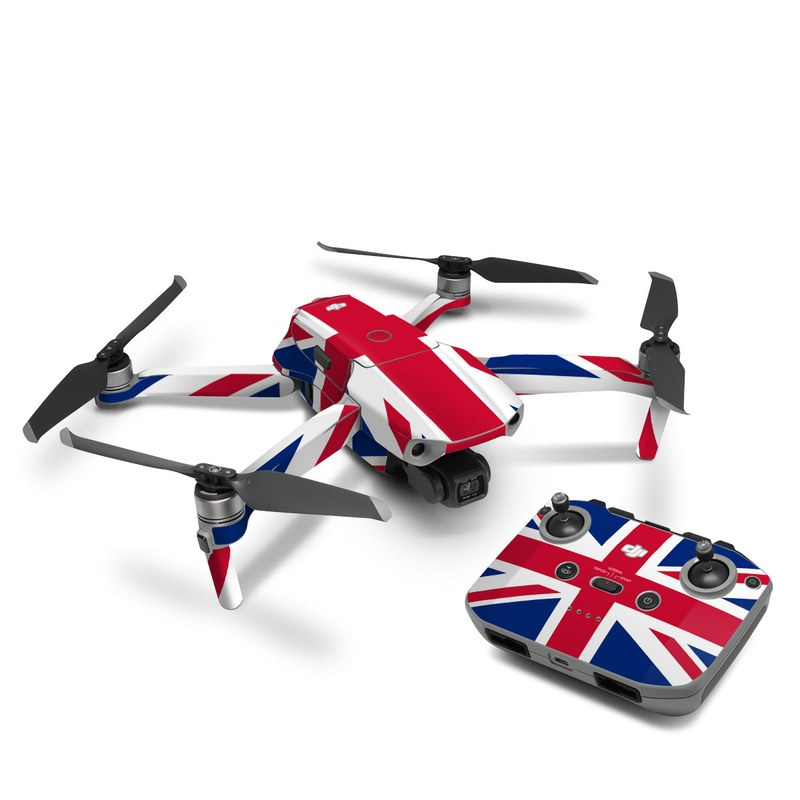 DJI Mavic Air 2 Skin design of Flag, Red, Line, Electric blue, Design, Font, Pattern, Parallel, Flag Day (USA) with red, white, blue colors