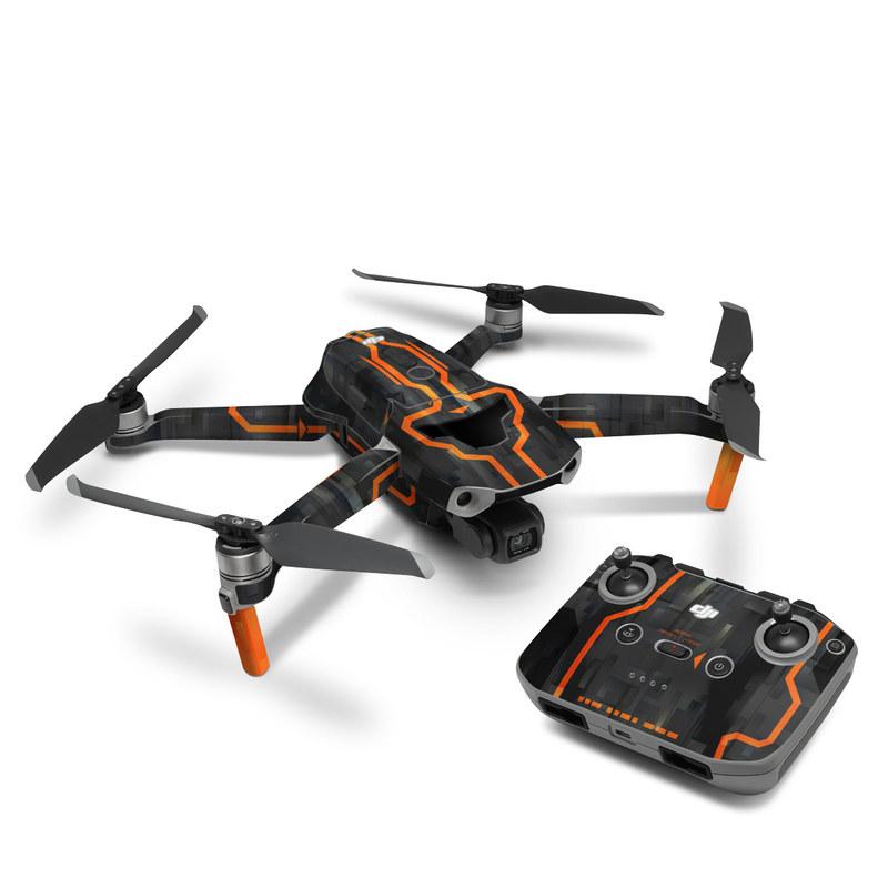 DJI Mavic Air 2 Skin design with black, gray, orange colors