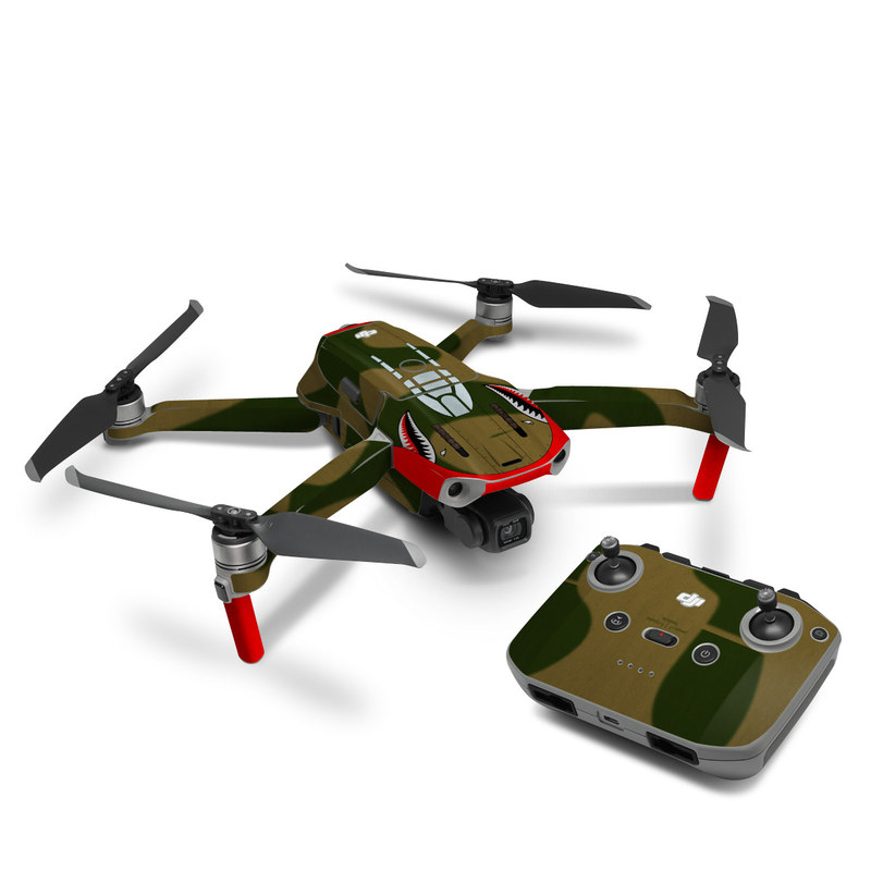 DJI Mavic Air 2 Skin design with green, red, white, black colors
