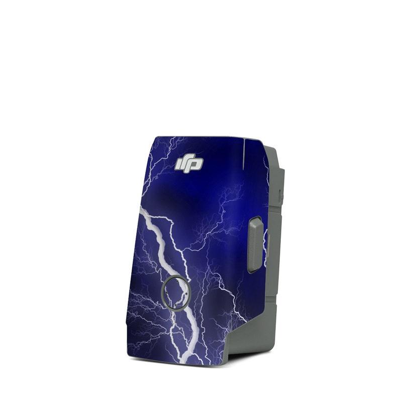 DJI Mavic Air 2 Battery Skin design of Thunder, Lightning, Thunderstorm, Sky, Nature, Electric blue, Atmosphere, Daytime, Blue, Atmospheric phenomenon with blue, black, white colors