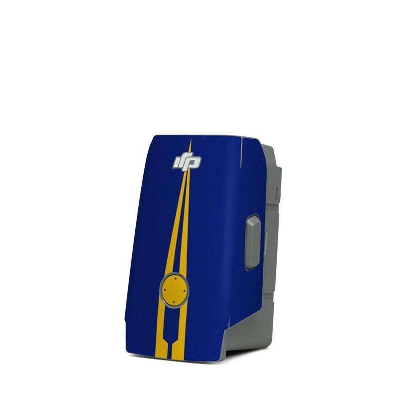 DJI Mavic Air 2 Battery Skin design with blue, yellow colors
